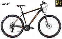 """Велосипед Spelli SX-2500 27,5"""" 650B (2016) Черно-оранжевый матовый"""