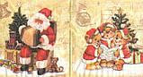 Салфетка декупажная Новогодний хор 5692, фото 3