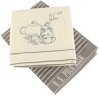 Набор кухонных полотенец U.S. Polo Assn - Sturgis серый 50*70-2 шт