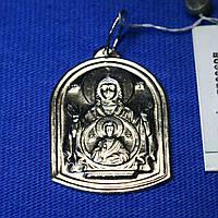 Иконка на цепочку из серебра Богородица 37802-б