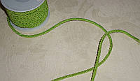 Шнурок шелковый 3 мм салатового цвета