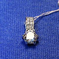 Женский серебряный кулон с камнями Украинка 3093-р