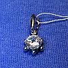 Серебряная подвеска с фианитом и родиевым покрытием 3144-р