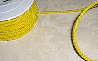 Шнурок шелковый 3 мм желтого цвета