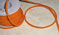 Шнурок шелковый 3 мм оранжевого цвета