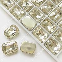 Пришивной прямоугольник в цапах, 10х14мм, цвет Crystal*1шт