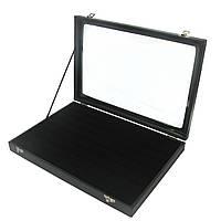 Коробка с стеклянной крышкой под кольца, фото 1