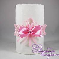 Подвязка невесты розового цвета