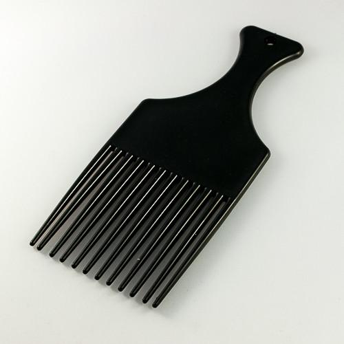 гребень для вьющихся волос черного цвета