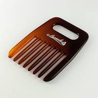 Расческа-гребень коричневая, фото 1