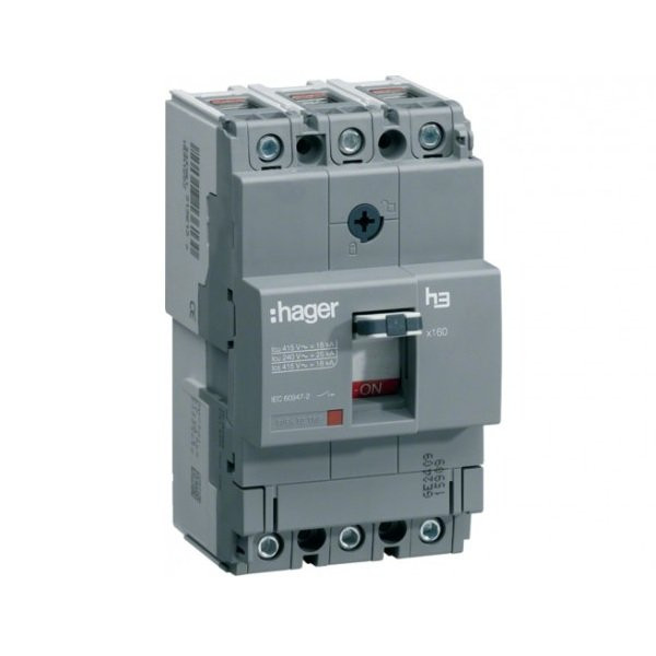 Автоматический выключатель Hager x160, In=32А, 3п, 18kA, Тфикс./Мфикс.
