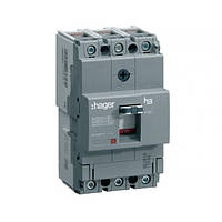 Автоматический выключатель Hager x160, In=80А, 3п, 18kA, Тфикс./Мфикс.