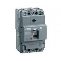 Автоматический выключатель Hager x160, In=100А, 3п, 18kA, Тфикс./Мфикс.