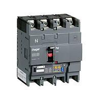 Автоматический выключатель Hager h250, In=125А, 4п, 50kA, LSI