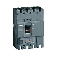 Автоматический выключатель Hager h630, In=630А, 4п, 70kA, LSI