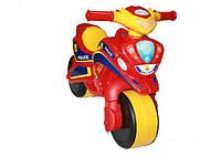 Мотобайк Полиция, красно-жёлтый, МУЗЫКАЛЬНЫЙ