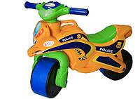 Мотобайк Полиция, оранжевый, МУЗЫКАЛЬНЫЙ