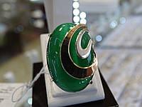 Серебряное кольцо с золотой пластинкой и улекситом
