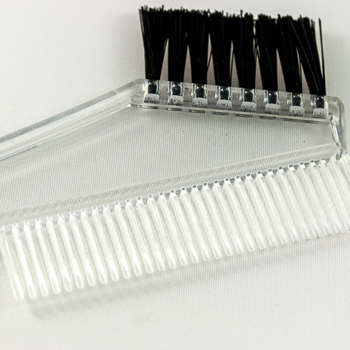 Расположение щетинок на кисточке для покраски волос