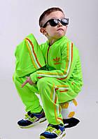 """Салатовый детский спортивный костюм тройка """"Аdidas"""". Арт-5012/44"""
