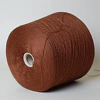 Пряжа Forever, коричневый с рыжим (50% меринос, 50% антипиллинговый акрил; 1400 м/100 г)