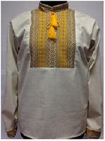 Льняная вышиванка мужская