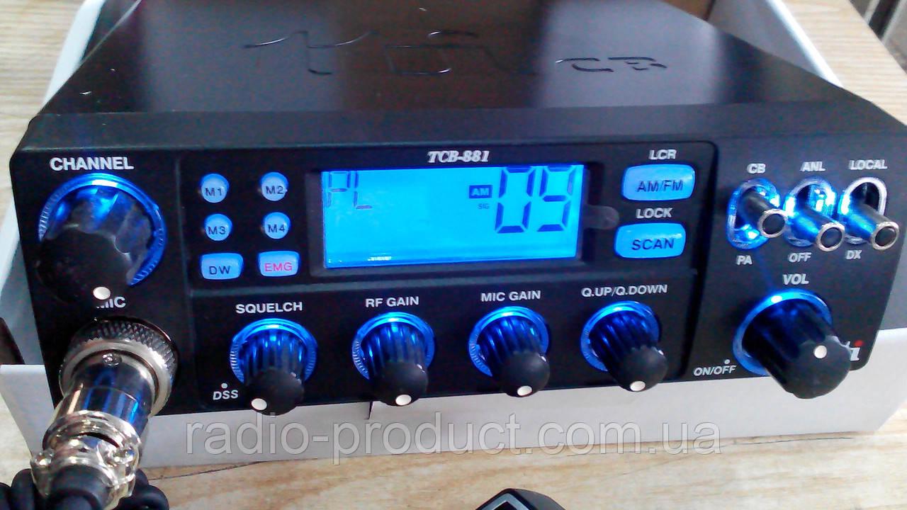 Радиостанция CB TTI TCB-881 12/24V ASQ AM/FM
