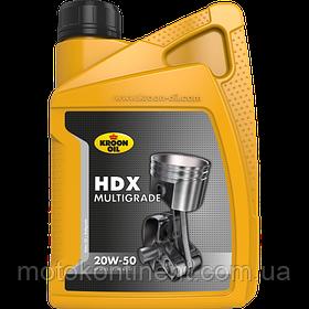 Моторное масло KROON OIL HDX 20W-50  бензиновых и дизельных моторов 1л KL00201