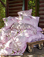Постельное белье Karaca Home сатин Wisteria розовое евро