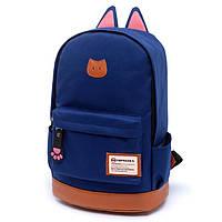 Рюкзак Ушки городской темно-синий, фото 1