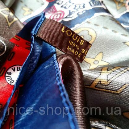 Платок Louis Vuitton шелк, карта мира, фото 2