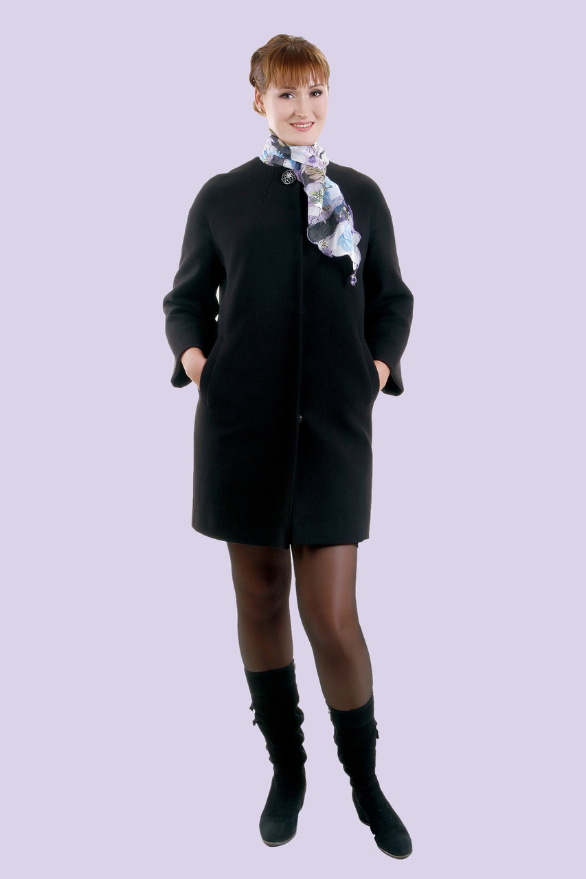 Строгое классическое кашемировое весеннее пальто, батал, 48-56 размер, фото 1
