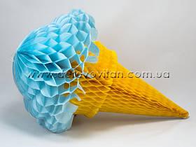"""Декоративная подвеска-соты """"Мороженое"""", голубое"""
