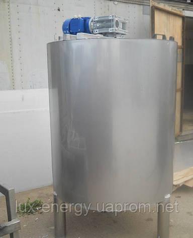 Емкость нержавеющая, объем 1,15 куб.м., с мешалкой лопастного типа, фото 2