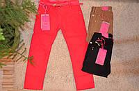 Котоновые брюки для девочек оптом -134-164 см