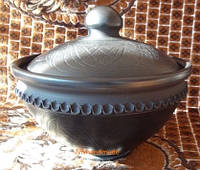 Макітра з кришкою для запікання та зберігання різних страв та продуктів керамічна