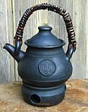 Чайник з підігрівом авторський керамічний 550мл, фото 3