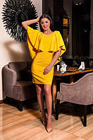 Платье женское желтое с вырезом на спине ВВ/-46