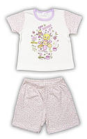 Пижама для девочки, футболка с шортиками