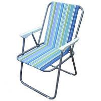 Кресло складное с пластиковыми подлокотниками
