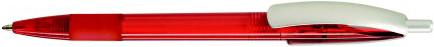 Ручка пластиковая VIVA PENS Cleo color красная