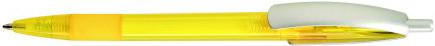 Ручка пластиковая VIVA PENS Cleo color желтая