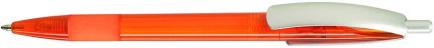 Ручка пластиковая VIVA PENS Cleo color оранжевая