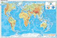 Фізична карта світу 75х112 см