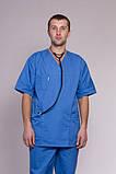 Медицинский костюм мужской 3211 (коттон), фото 2
