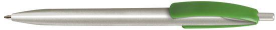 Ручка пластиковая VIVA PENS Cleo silver зеленая