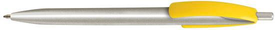 Ручка пластиковая VIVA PENS Cleo silver желтая