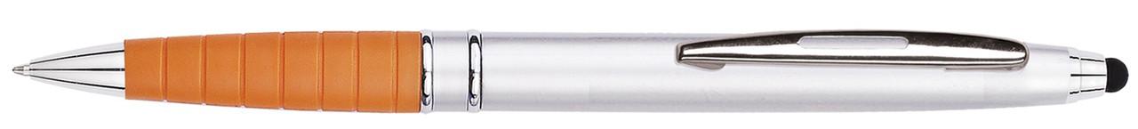 Ручка пластиковая VIVA PENS Esso Silver серебристо-оранжевая