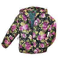 Детские весенние куртки оптом 3-7 лет Цветы фуксия Оптом