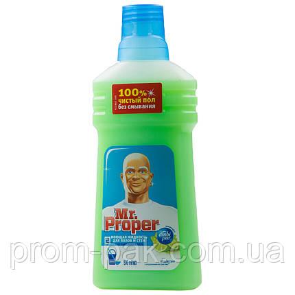 Моющая жидкость Mr. Proper для уборки полов и стен 500 мл лайм- мята, фото 2